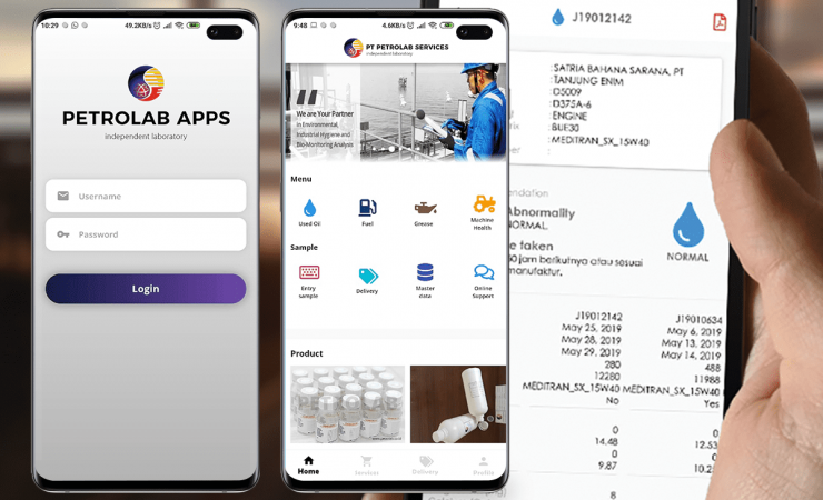 petrolab mobile apps
