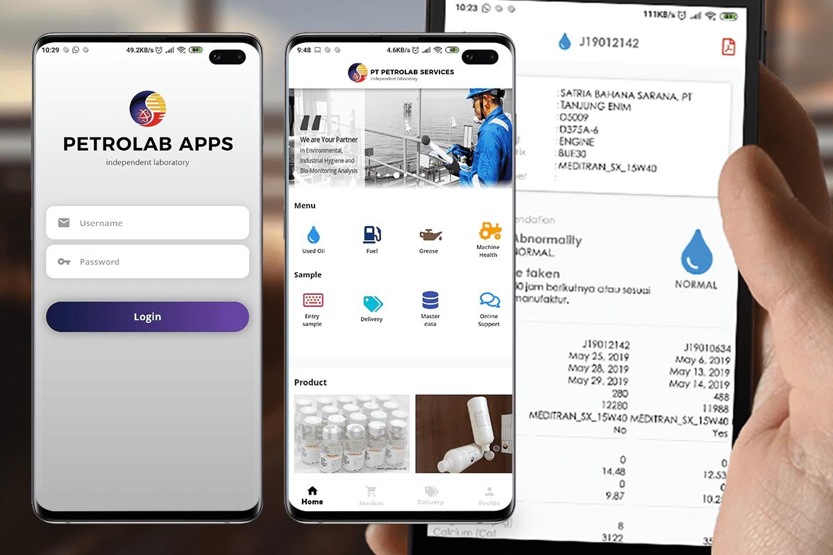 petrolab mobile apps
