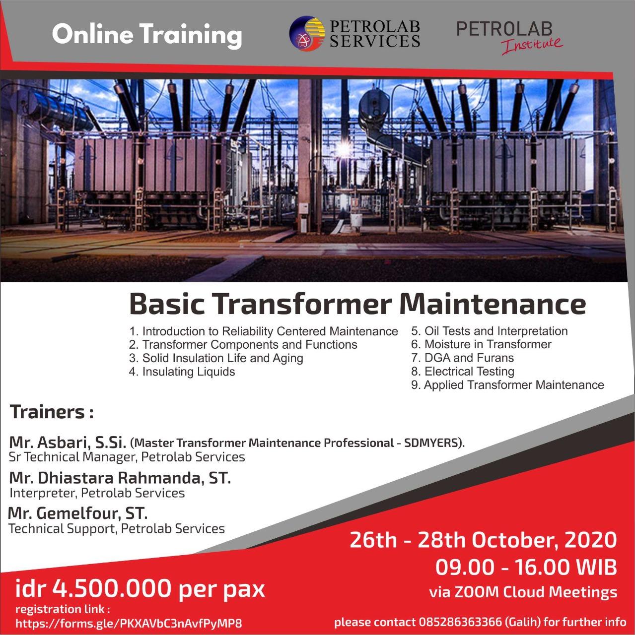 basic transformer maintenance